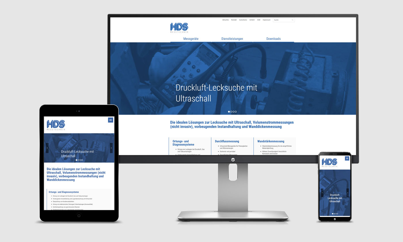 HDS Messtechnik, Website