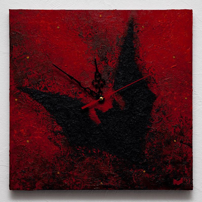 BAT-TIME, Acryl auf Leinwand mit Strukturspachtel, 30x30cm