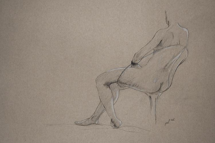 Akt, Bleistift, Polychromos