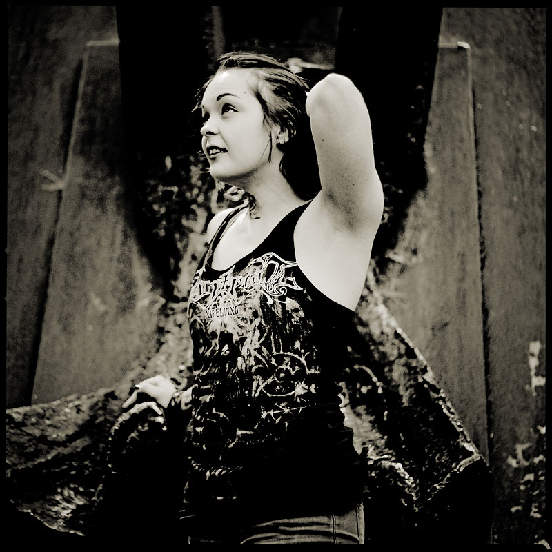 Fotoshooting mit Anja in Bochum, Anton Corbijn Style