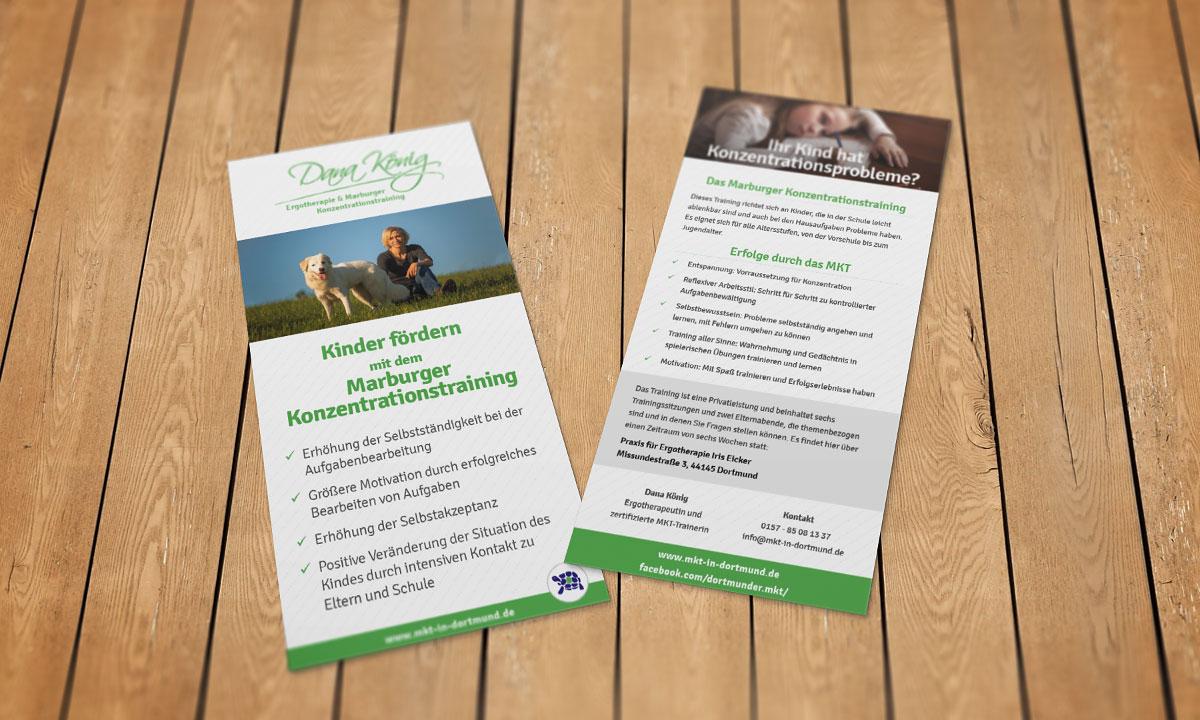 Flyer zum Thema MKT (Marburger Konzerntrationstraining) für Kinder