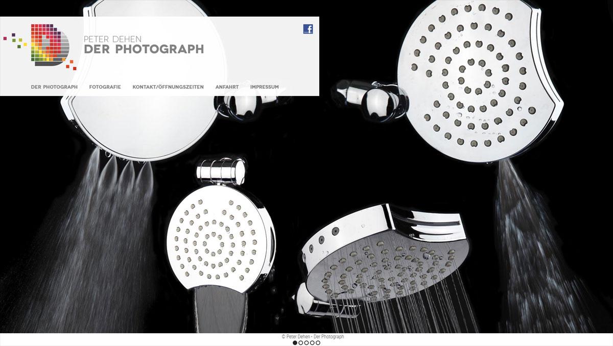 Peter Dehen - Der Photograph, Website (Startseite)