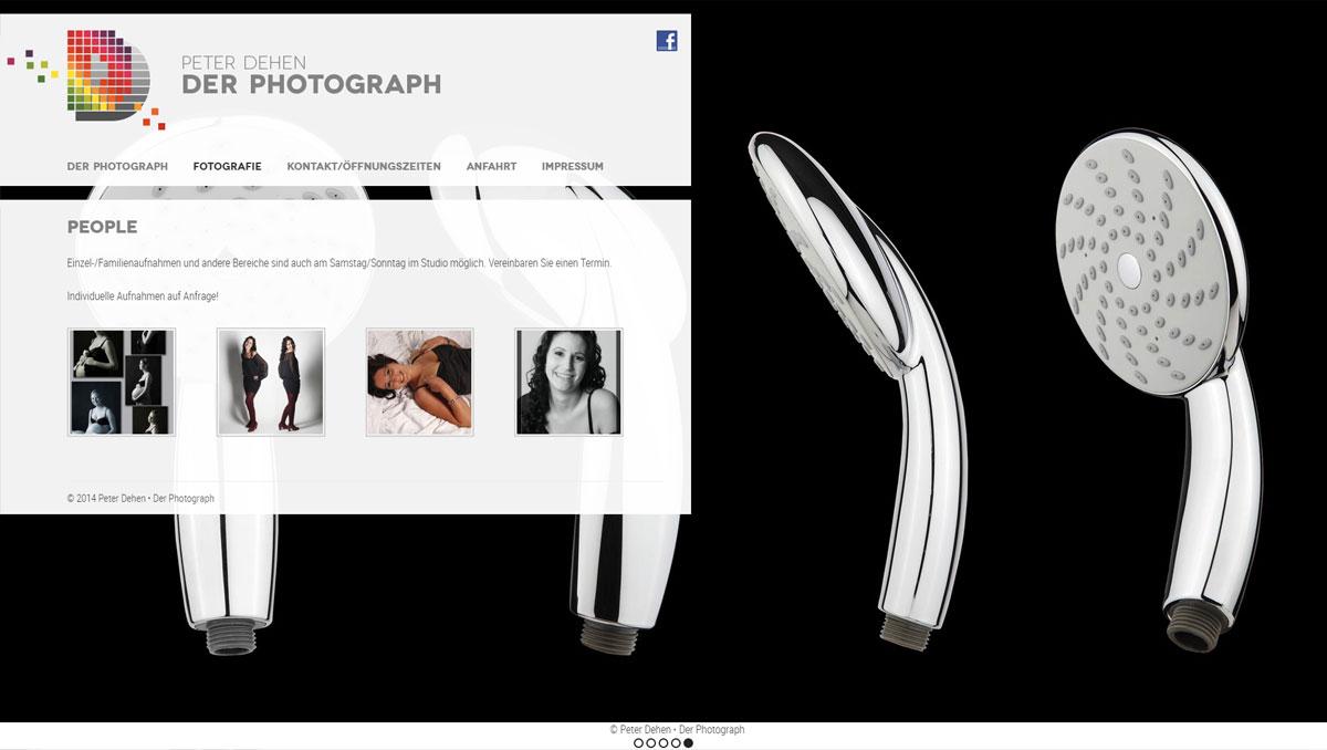 Peter Dehen - Der Photograph, Website (Bereich People)