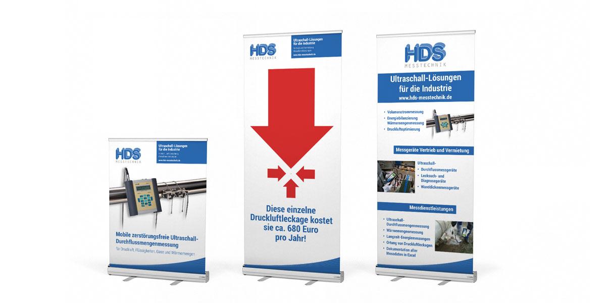 HDS Messtechnik, Aufsteller für Messen