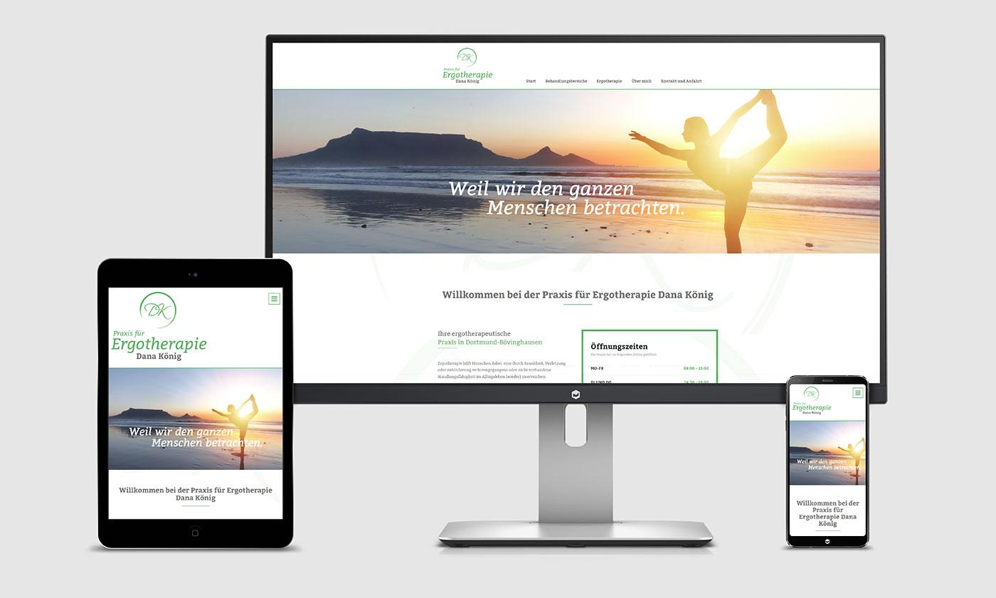 Website Praxis für Ergotherapie Dana König