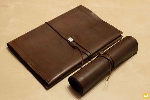 Schreibmappe aus Leder