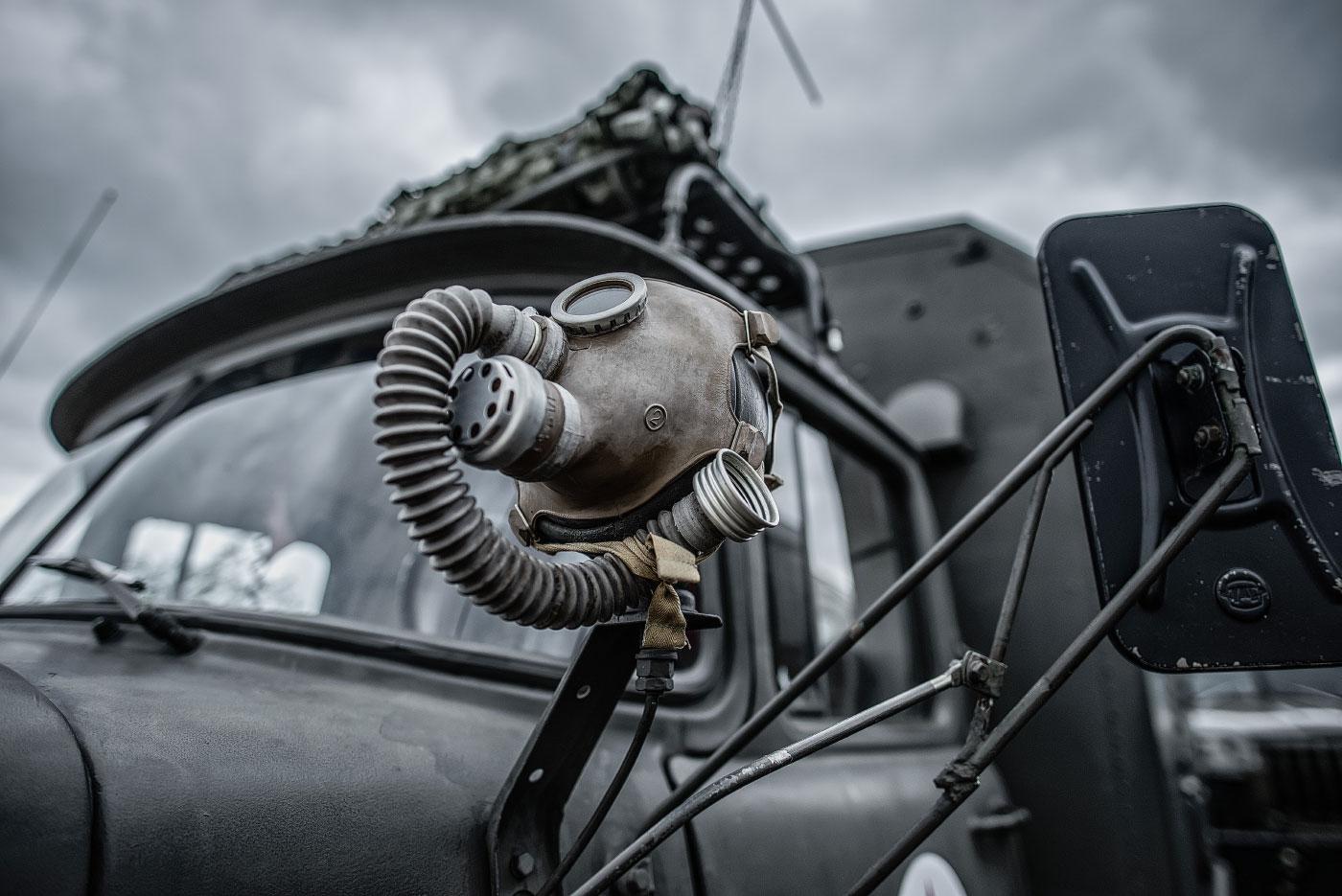 Panzertreffen, Ural LKW mit Gasmaske