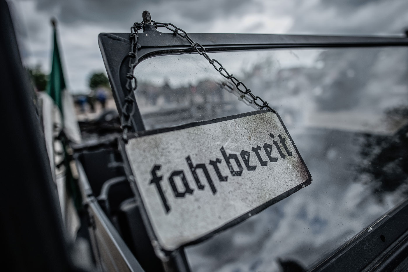 "Panzertreffen, Schild ""fahrbereit"""