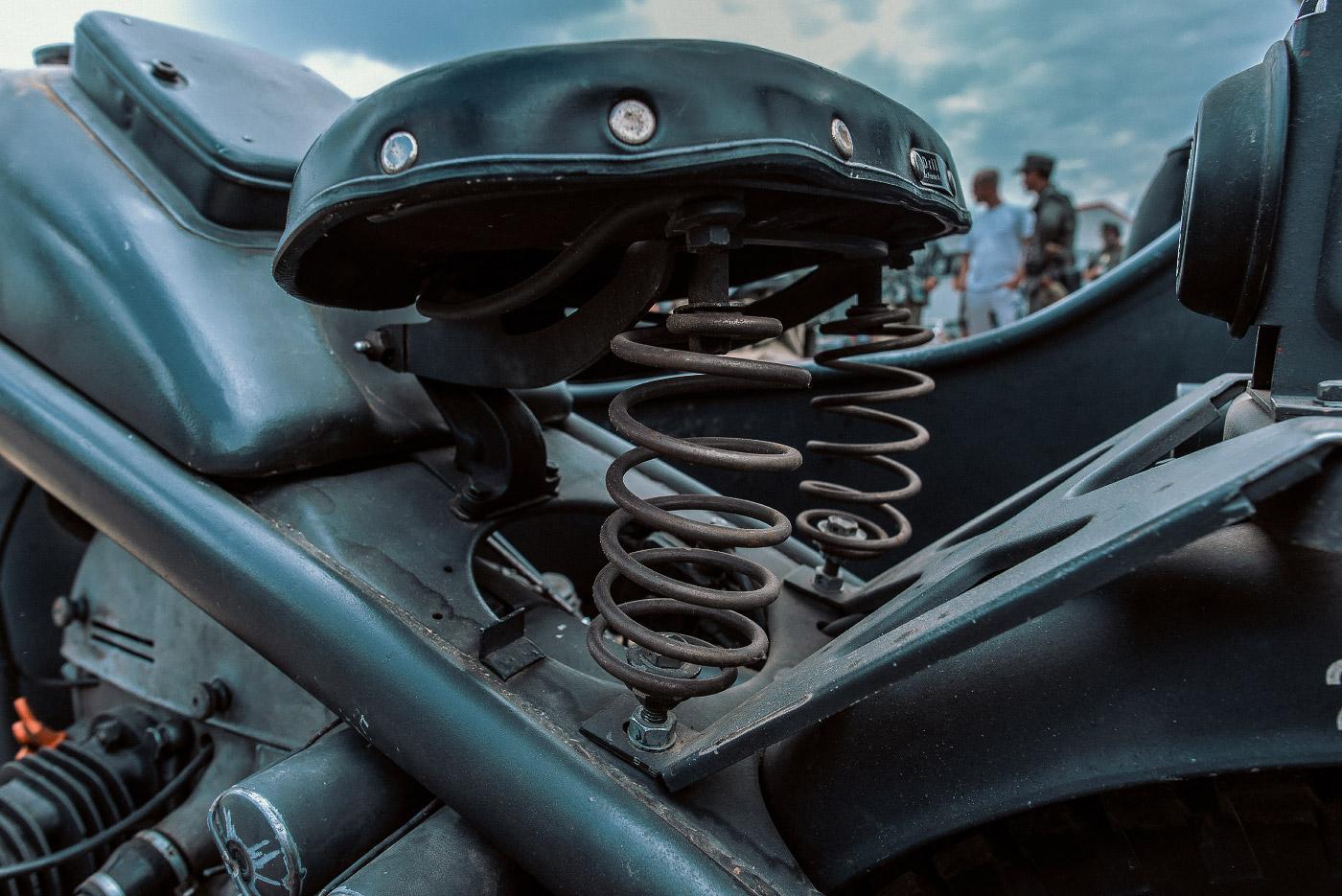 Panzertreffen 2018, Motorradfederung