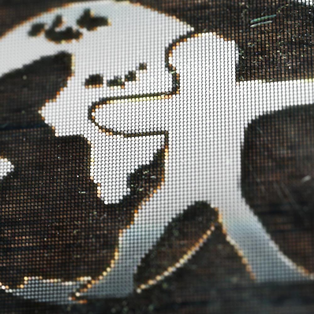 Pfeil&BogenWelt, Logo mit Metalleffekt und Holzhintergrund